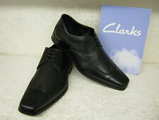 Clarks Croyden Club Black Leather Smart Lace Up Shoes