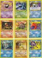 Pokemon Fossil Set ALL Uncommon-Common 31-60/62 CHOOSE Cards EX Out Of Print