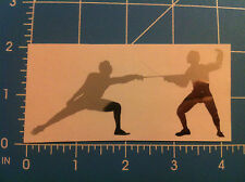 FENCING decal sword fight sports Car Decal Window Sticker pick size and color