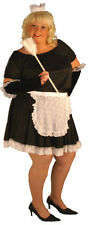 FRENCH MAID SHORT SEXY FULL FANCY DRESS COSTUME HAT.GLOVES. PLUS SIZE 18-40