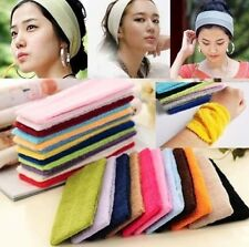 Comfy Cotton Terry Cloth Flexible Headband Sweatband Wristband Sports Yoga C877