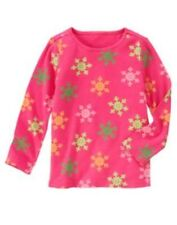 GYMBOREE CHEERY ALL THE WAY MAGENTA SNOWFLAKE L/S TEE 4 5 6 7 8 12  NWT