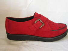 """SALE LADIES RED FLAT SPOT ON SHOES """"F9567"""""""