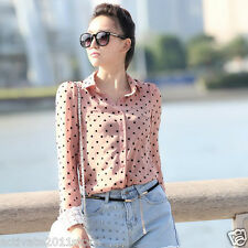 Women Charming Dots Shirt Long Sleeve OL Career Charismatic Blouse High Quality