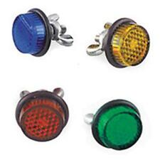 MOTORCYCLE AUTO LICENSE PLATE REFLECTORS 4 PACK RED BLUE GREEN AMBER MADE IN USA