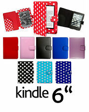 for AMAZON KINDLE 4 (2011-SEP 2014) LEATHER CASE COVER WALLET WITH FULL INTERIOR