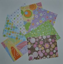 GLITTERED or FOILED DESIGNER Series Paper Fronts & Stampin Up Coordinating Cards