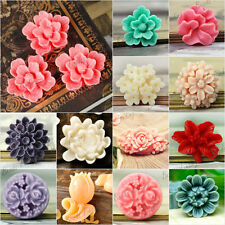 TOP Resin Cabochons flower multi-color to choose wholesale fit Cabochon Settings