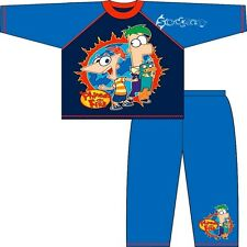 Boys Disney Phineas and Ferb Pyjamas Ages 3-10 Years Perry Platypus