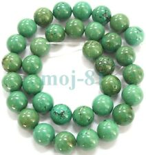 Nature Green Turkey Turquoise Round Loose Beads 15''