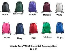 Liberty Bags VALUE Drawstring Backpack Cinch Sack 14 X 18 8886