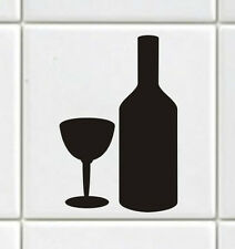 """Tile Transfers Many Colours Sizes to fit 4"""" and 6"""" tiles Pack of 12 BOTTLE GLASS"""