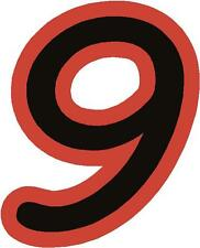 "x1 2"" Digit  (more in ebay shop) Race Numbers vinyl stickers Style 1 Black/Red"