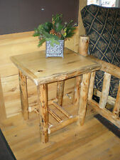 Log Nightstand / Endtable  Handcrafted with FREE SHIPPING