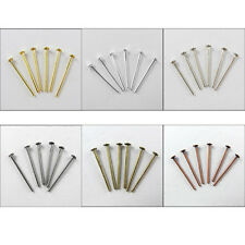 0.6-2Inch 21g Head Pin Finding Gold,Silver,Dull SIlver Bronze,Copper,Black Plt