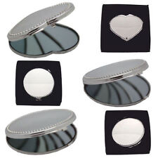Personalised Compact Mirror Bead Design, Engraved Gift