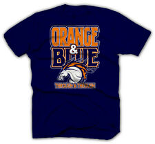 Denver Broncos Shirts - Peyton Manning Jersey - Blue & Orange T-Shirt - FOOTBALL