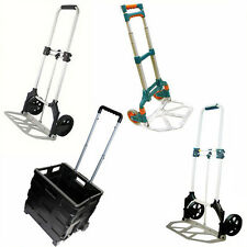 HEAVY DUTY FOLDING HAND SACK TROLLEY CART FOLDABLE BOOT CAR TRUCK NEW SHOPPING