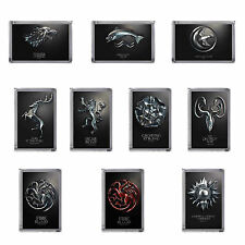 GAME OF THRONES ACRYLIC FRIDGE MAGNET HOUSE SIGIL AND MOTTO 10 DESIGNS GIFT