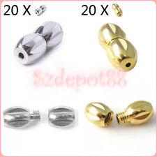 20pcs Quality Metal Screw Clasp for Necklace Jewelry Making Supplies DIY Crafts
