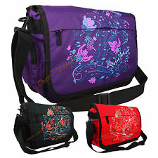 Womens Girls Pour Moi Floral School College Uni A4 Laptop Messenger Satchel Bag