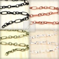 HOT!!Textured Cable Unfinished Chain Link wholesale fit bracelet necklace CH0134