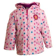 Baby Girls In The Night Garden 'Upsy Daisy' Padded Jacket - Spot Print Pink
