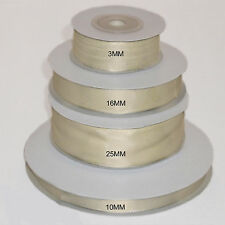 Ivory double faced satin ribbon 3mm 10mm 16mm 25mm 38mm 50mm width