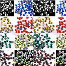 Lots 1440pcs 10Gross SS20 5mm Hotfix Iron Flat Back Crystal Rhinestone Color