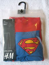 H&M SUPERMAN LONG JOHNS Men's Thermal Underwear NEW Size SMALL