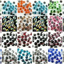 Lots 1440pcs 10Gross SS10 3mm Hotfix Iron Flat Back Austria Crystal Rhinestone