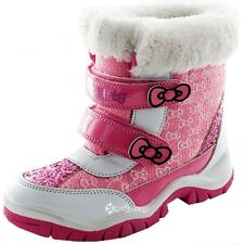 Girls Hello Kitty Forest Snow Boot Shoe Sizes 6-12 Winter