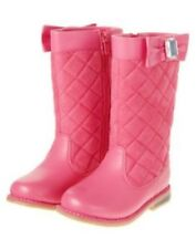 GYMBOREE EQUESTRIAN CLUB PINK QUILTED BOW BOOTS 9 10 11 12 13 1 2 3 NWT-OT