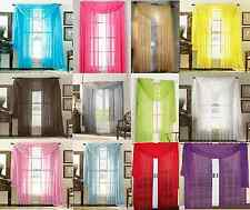 SHEER/ SCARF VALANCE DRAPES Voile Window Panel curtains 20 diff. colors SALE!!