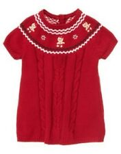 GYMBOREE GINGERBREAD GIRL RED COOKIE YOKE SWEATER DRESS 0 3 6 12 18 NWT