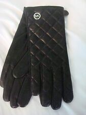 Michael Kors Leather Quilted womens Gloves MSRP $88 FREE SHIP Tags NEW