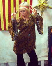 Gypsy Junkies Blossom Tunic Goldenrod Velvet Floral Lace Free Spirit Boho People
