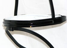FSS German Leather PATENT GLOSS Comfort WHITE Padded Caveson OR Flash Noseband