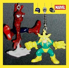 MARVEL COMICS SUPERHERO FIGURES SPIDER-MAN & ELECTRO OR GREEN GOBLIN FAN PULLS