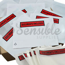 DOCUMENTS ENCLOSED WALLETS~Envelopes~Printed Plain A7 A6 A5 A4 1000 500 200 100