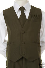 New Baby,Toddler & Boy Easter Formal Party Vest Suit O. Green 12M 18M-8,10,12,14