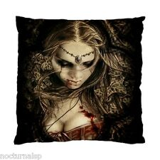 NEW CUSHION CASE PILLOW CASE - Gothic Girl Vampire Bloody