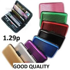 Waterproof  ID Credit Card Wallet Holder Aluminum  for Women Men