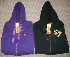NWT SEVEN JEANS BLACK PURPLE ACTIVE HOODIE JACKET WOMEN PLUS 14 16 18 20 22 24