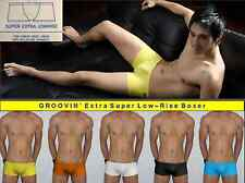 """GROOVIN' (L 34-36"""") Super Low-Rise Boxer Brief /many colors /Japanese-Cut +SEXY"""