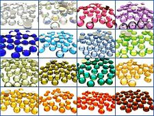 Quality Flat Back Round Faceted Stick On Rhinestone Acrylic Gems 6mm 8mm 10mm