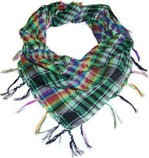 Womens Houndstooth Plaid Checker Fringed Polyester Scarf Shaw Wrap Accessory
