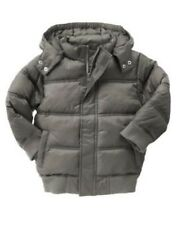 GYMBOREE SNOW DAYS GRAY HOODED PUFFER JACKET 3  4 5 6 7 8 10 12 NWT