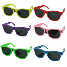 Kids Sunglasses Retro 80's Wayfarer UV400 Safe Sun Glasses Boys Girls Childrens
