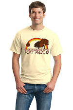 ANOTHER BEAUTIFUL DAY IN POST FALLS, ID Retro Adult Unisex T-shirt. Idaho City